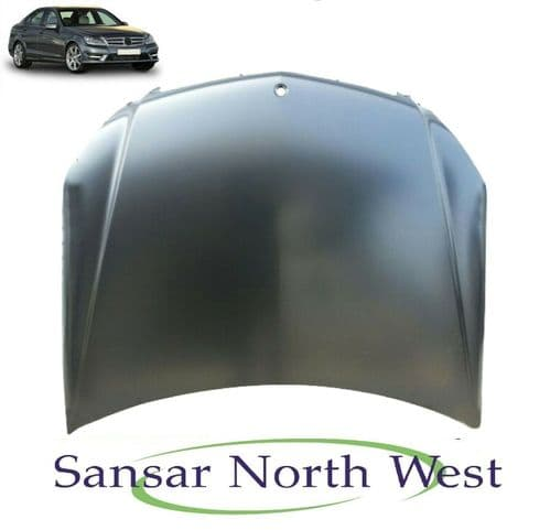 For Mercedes Benz C-Class - Front Bonnet Panel - Steel Type - 2011 to 2014